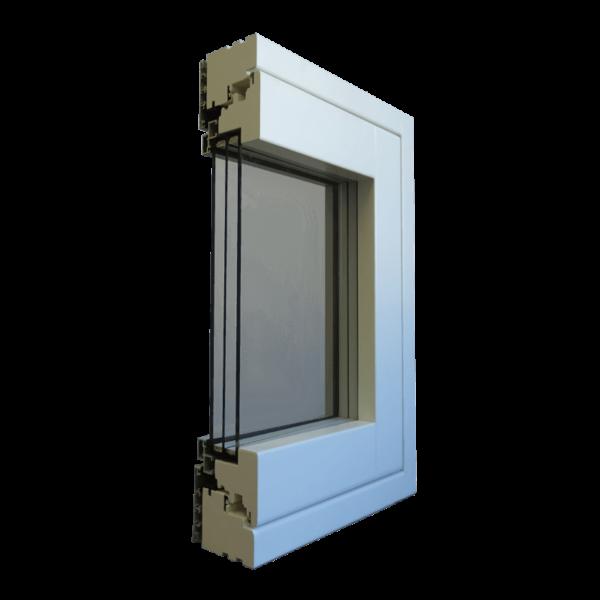 Serramento legno/alluminio COMPLANARE